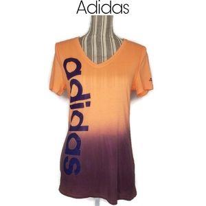 Adidas Two Tone V Neck Tee Size Medium